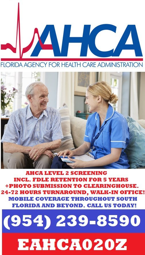 AHCA Level 2 Screening
