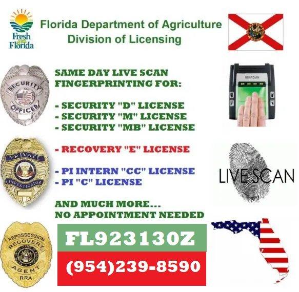 Florida Security License Fingerprinting