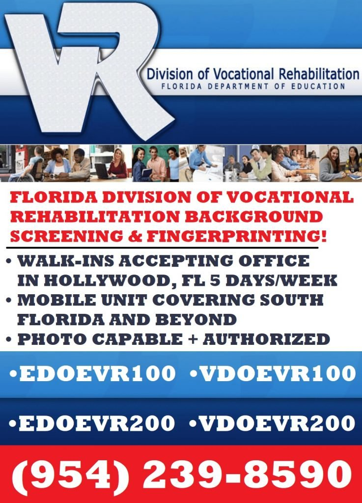Division of Vocational Rehabilitation Background Screening